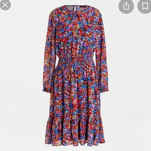 NWT JCrew Cinched Waist Watercolor Dress in Floral